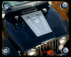 Jeep CJ hood louvers