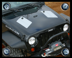 Jeep JK hood louvers