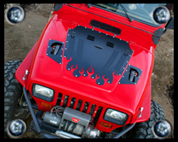Jeep YJ hood louvers